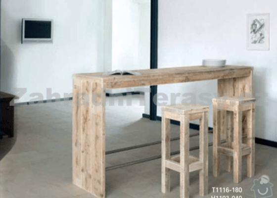 Výroba psacího stolu a barového pultu na míru