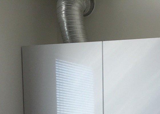 Zakrytí odtahu digestoře sádrokartónem