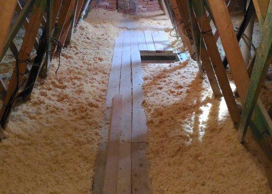 Zateplení sádrokartovnového stropu RD