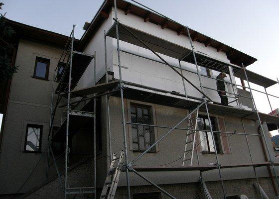 Zateplení a zhotovení stěrky přístavby rod. domu