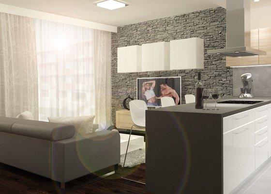 Návrh bytu v novostavbě pro mladou rodinu