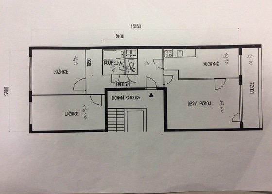Rekonstrukce bytového jádra a vybraných částí bytu před následným pronájmem