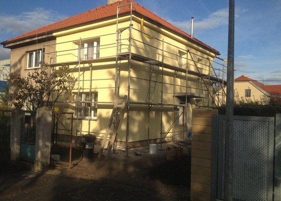 Zateplení a fasáda rodinného domu