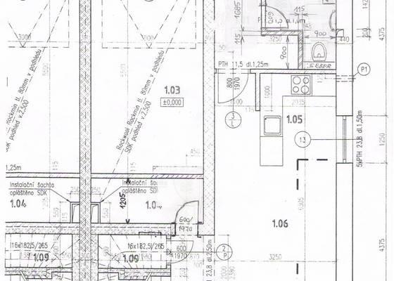 Projekt pro přestavbu garáže na obytnou místnost