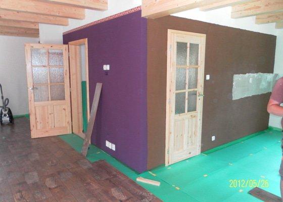 Stavební práce, pokládka vymývané a zámkové dlažby, malování, pokládka plovoucí podlahy, tapetování