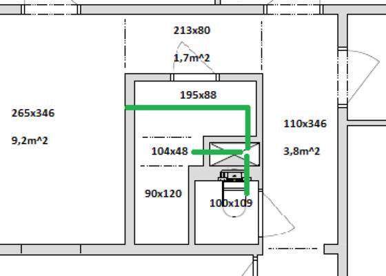 Rozvod vzduchotechniky v panelovém bytě