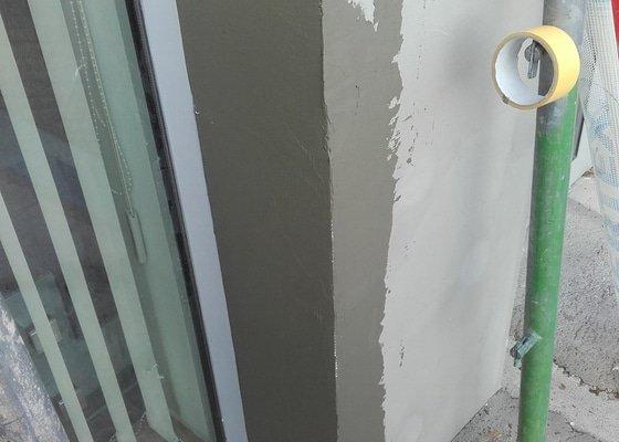 Zapravení fasády, drobné zednické práce