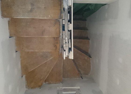 Renovace dřevěného schodiště Praha 10