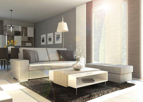 Návrh moderního interiéru v neutrálních barvách