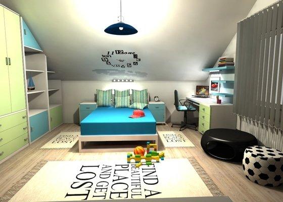 3D grafický návrh dětského pokoje