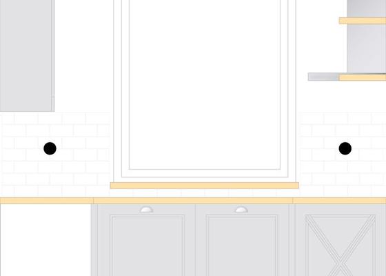 Obklady kuchyňské linky 3 m2