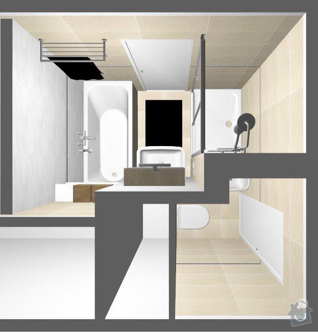 Rekonstrukce jádra v panelovém bytě: Rvar2
