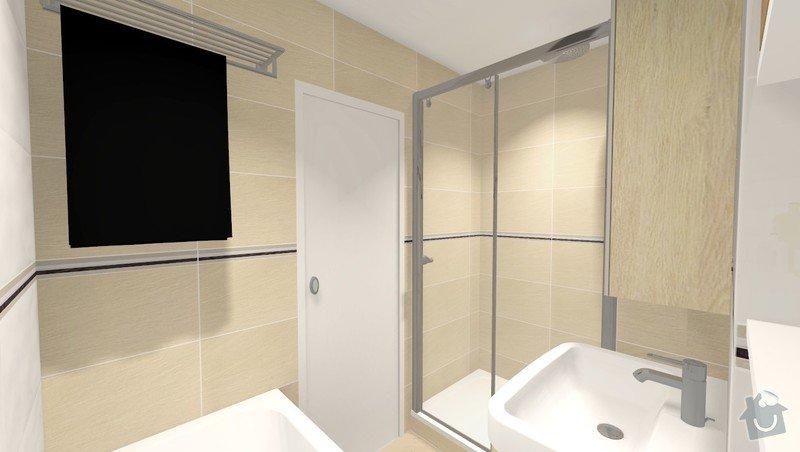 Rekonstrukce jádra v panelovém bytě: Rvar2_pohled2