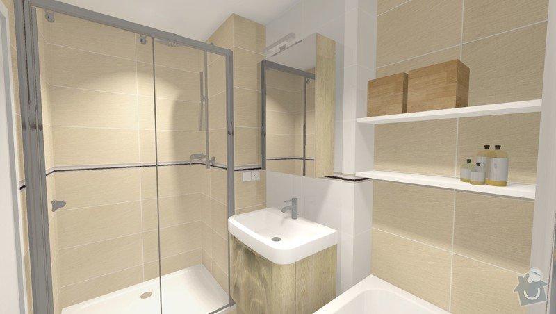 Rekonstrukce jádra v panelovém bytě: Rvar2_pohled1