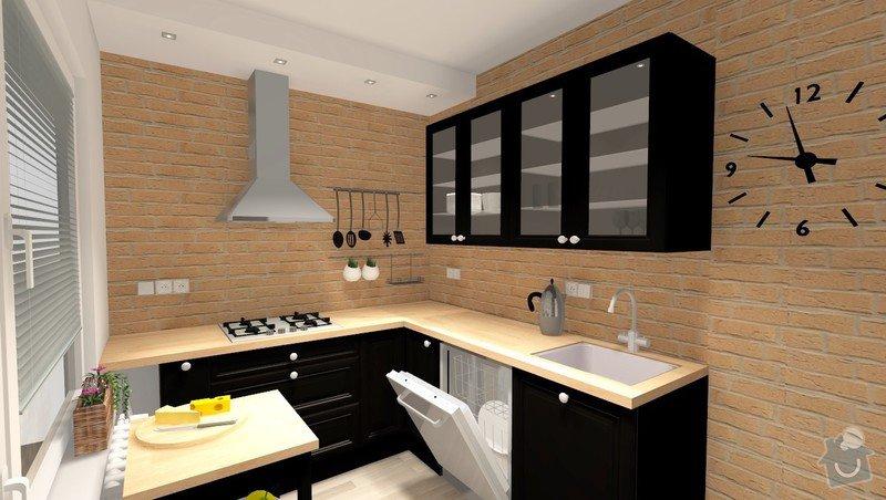 Rekonstrukce jádra v panelovém bytě: R_01_var1_pohled1