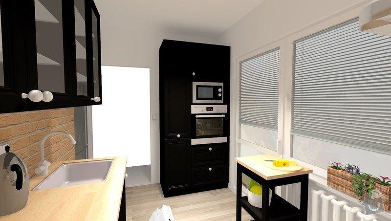 Rekonstrukce jádra v panelovém bytě: Rvar1_pohled3