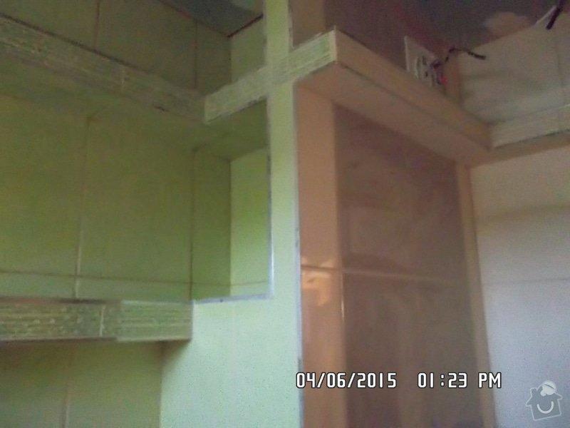 Obklad a dlažbu přestavěného jádra v paneláku: SAM_1850