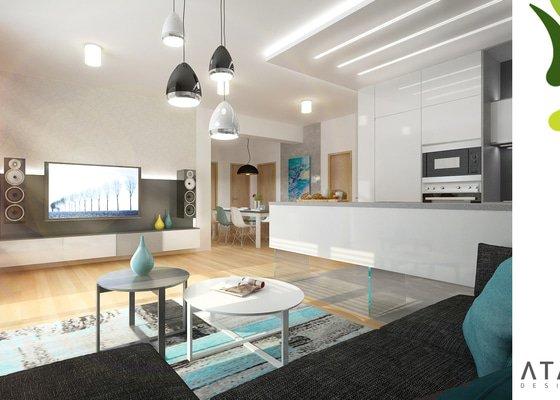 Montáž osvětlení v obývacím pokoji
