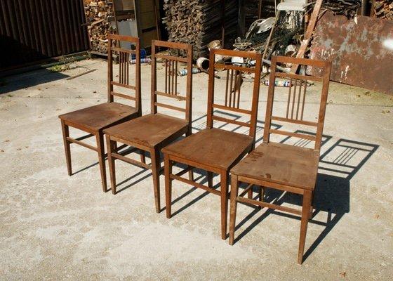Restaurování mahagonových židlí