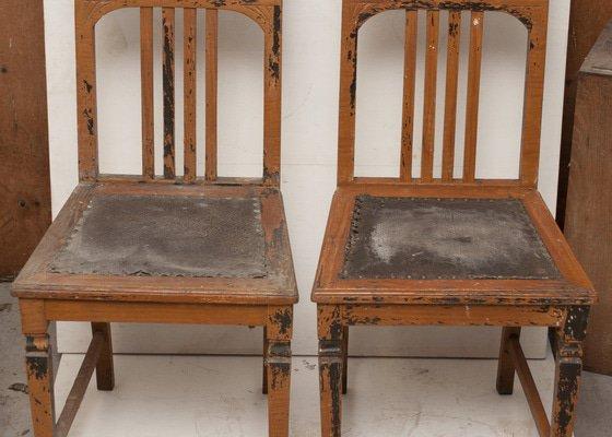 Restaurování secesních židlí včetně čalounění