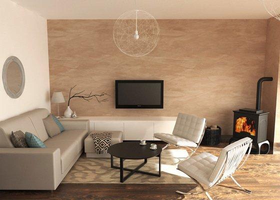 Návrh obývacího pokoje a předsíně