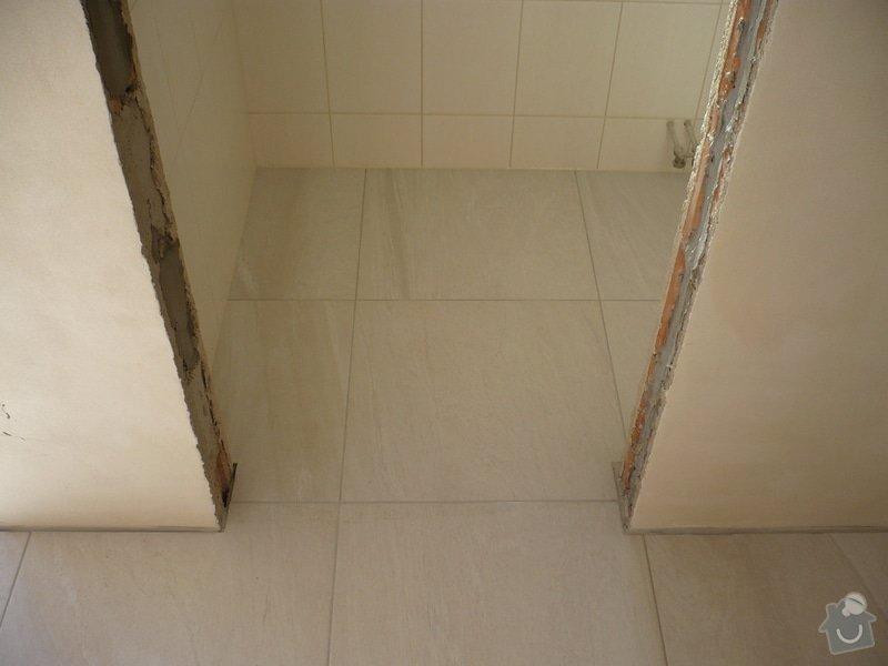 Provedení obkladů koupelna + WC, položení dlažby: P1190477