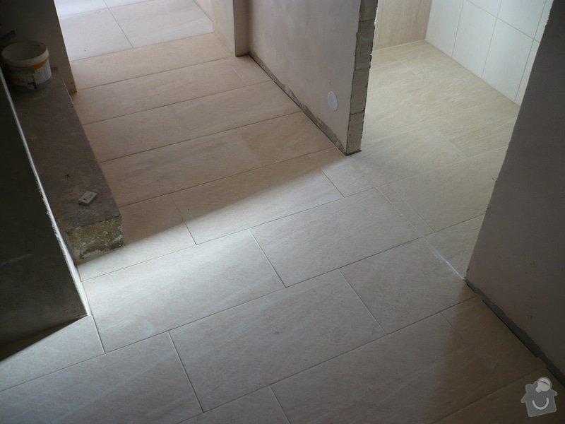 Provedení obkladů koupelna + WC, položení dlažby: P1190481