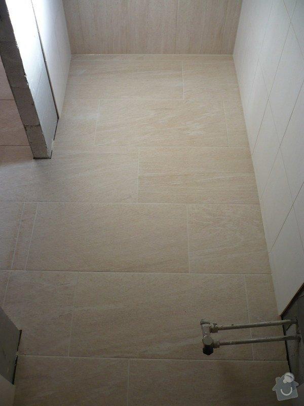 Provedení obkladů koupelna + WC, položení dlažby: P1190483