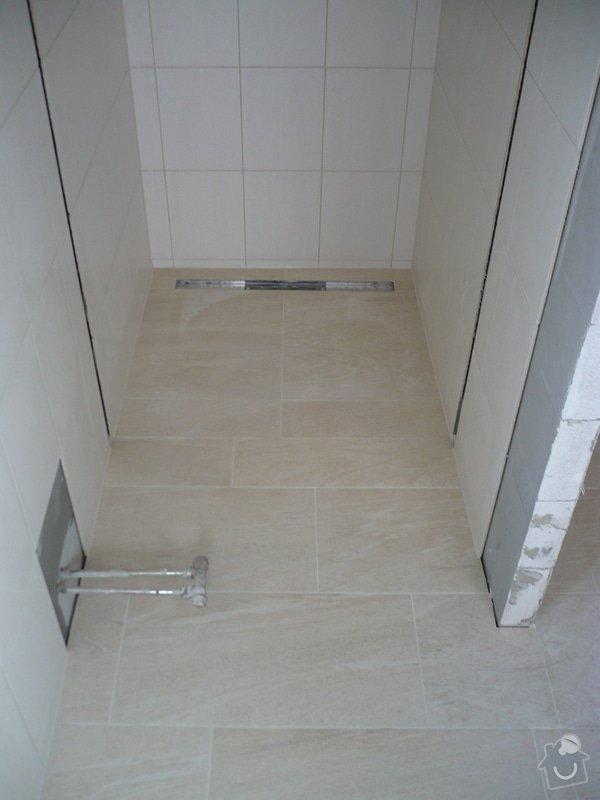 Provedení obkladů koupelna + WC, položení dlažby: P1190485