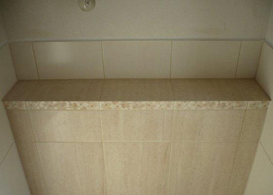 Provedení obkladů koupelna + WC, položení dlažby