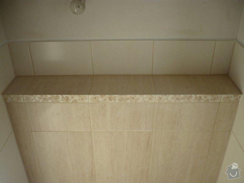 Provedení obkladů koupelna + WC, položení dlažby: P1190488