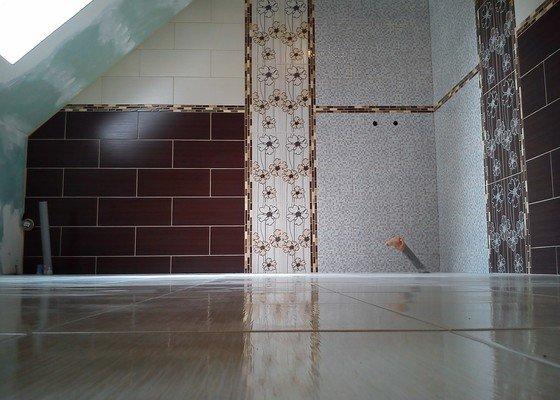 Stavba koupelny+obklady a dlažba