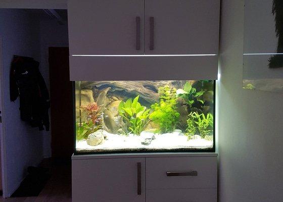 Vestavěná skříň s místem pro akvárium