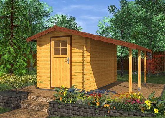 Výroba dřevěného zahradního domku na míru s přístřeškem