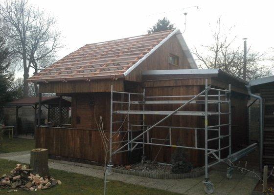 Oprava střechy chaty