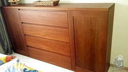 Dýhovaný nábytek do ložnice: komoda_1