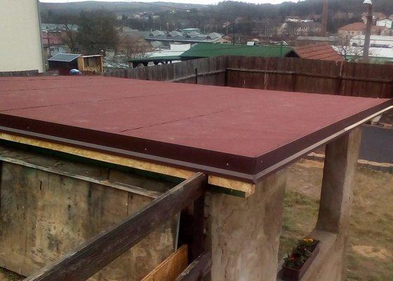 Vazba střechy na zděné pergole