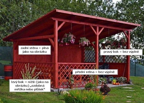 Dřevěná zahradní pergola
