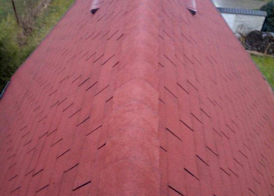 Oprava střechy zahradní chata J.Hradec