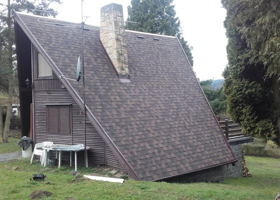 Rekonstrukce střechy chaty