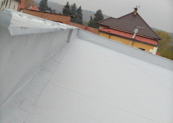 Izolace ploché střechy a tep. izolace na fasádu