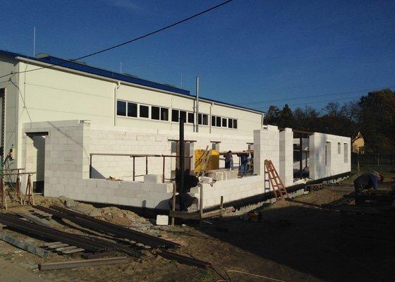 Novostavba skladu a kanceláří včetně sociálního zázemí