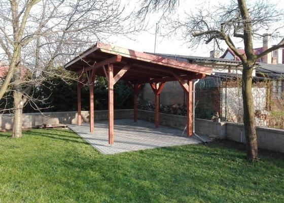 Zahradní altán - pergola (tesaři)