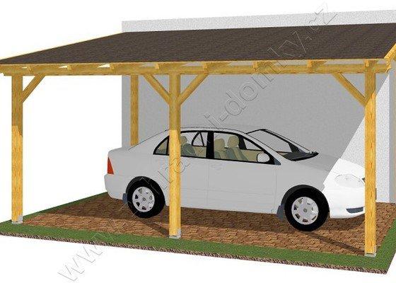 Parkovací stání se zámkovou dlažbou a přístřešek na auto