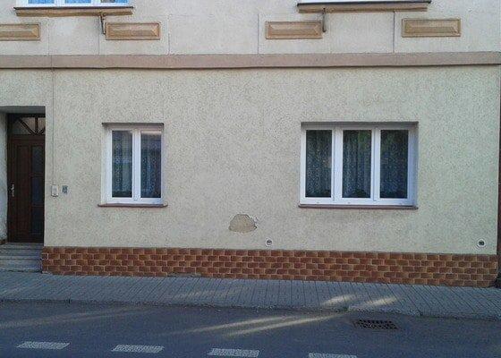 Oprava fasády řadového rodinného domu