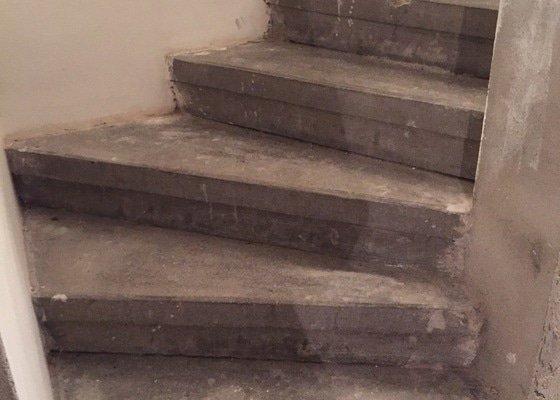 Obložení schodů do sklepa dlažbou