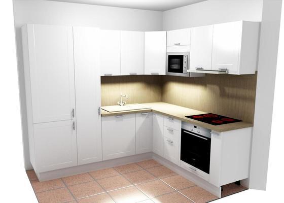 Příprava pro montáž kuchyňské linky