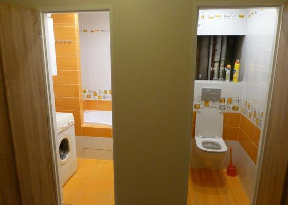 Rekonstrukce bytového jádra typu T v panelákovém bytě 1+1 na jihu Prahy
