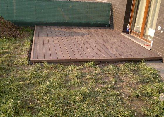 Dřevěná venkovní terasa - zhotovení