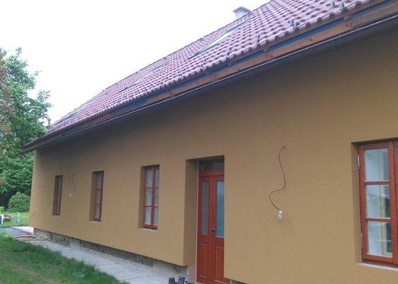 Zateplení domu polystyrenem, následně fasáda
